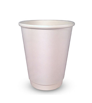 12dwEdit-1 Compostable Single Wall White Paper Cups