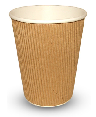 12ozRIP-331x400-1 340ml (12oz)<br>Kraft Ripple Paper Cup<br>500 per case