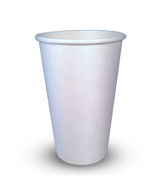 16oz-1 Gobelets en papier biodégradable à simple paroi