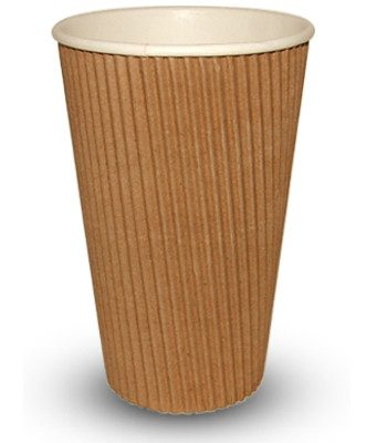 16ozRIP-331x400-1-331x400 455ml (16oz)<br>Kraft Ripple Paper Cup<br>500 per case