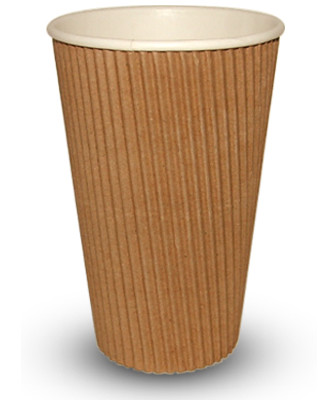 16ozRIP-331x400-1 455ml (16oz)<br>Kraft Ripple Paper Cup<br>500 per case