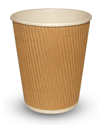 8ozRIP-331x400-1 225ml (8oz)<br>Kraft Ripple Paper Cup<br>500 per case